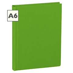 Notebook Classic (A6) book linen cover, 160 pages, ruled, lime