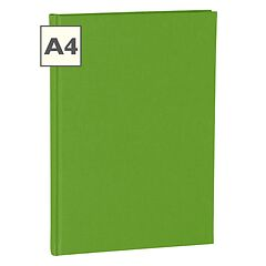 Notebook Classic (A4) book linen cover, 160 pages, ruled, lime