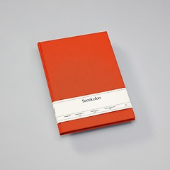 Notebook Classic (A4) book linen cover, 160 pages, ruled, orange