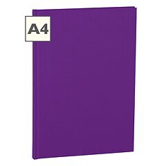 Notebook Classic (A4) book linen cover, 160 pages, ruled, plum