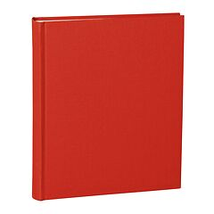 Album Medium, booklinen cover, 80pages, cream white mounting board, glassine paper, red