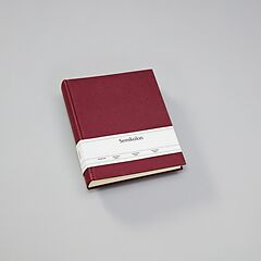 Album Medium, booklinen cover, 80pages, cream white mounting board,glassine paper,burgundy