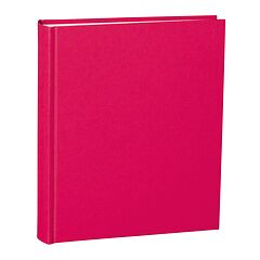 Album Medium, booklinen cover, 80pages, cream white mounting board, glassine paper, pink