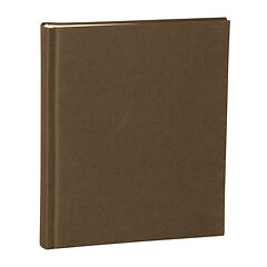 Album Medium, booklinen cover, 80pages, cream white mounting board, glassine paper, brown
