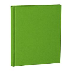 Album Medium, booklinen cover, 80pages, cream white mounting board, glassine paper, lime