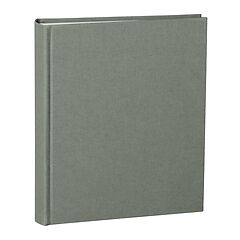 Album Medium, booklinen cover, 80pages, cream white mounting board, glassine paper, grey