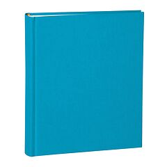 Album Medium, booklinen cover, 80pages,cream white mounting board,glassine paper,turquoise