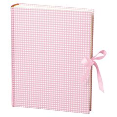 Album Large, booklinen cover, 130p., cream white mounting board, glassine paper,Vichy pink