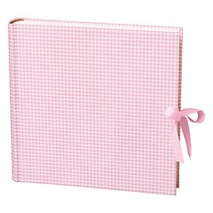 Album Xlarge,booklinen cover,130pages,cream white mounting board,glassine paper,Vichy pink