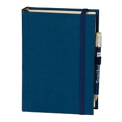 Travel Diary Petit Voyage, 304 pages of laid paper, plain, marine