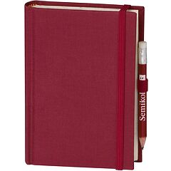 Travel Diary Petit Voyage, 304 pages of laid paper, plain, burgundy