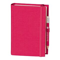 Travel Diary Petit Voyage, 304 pages of laid paper, plain, pink
