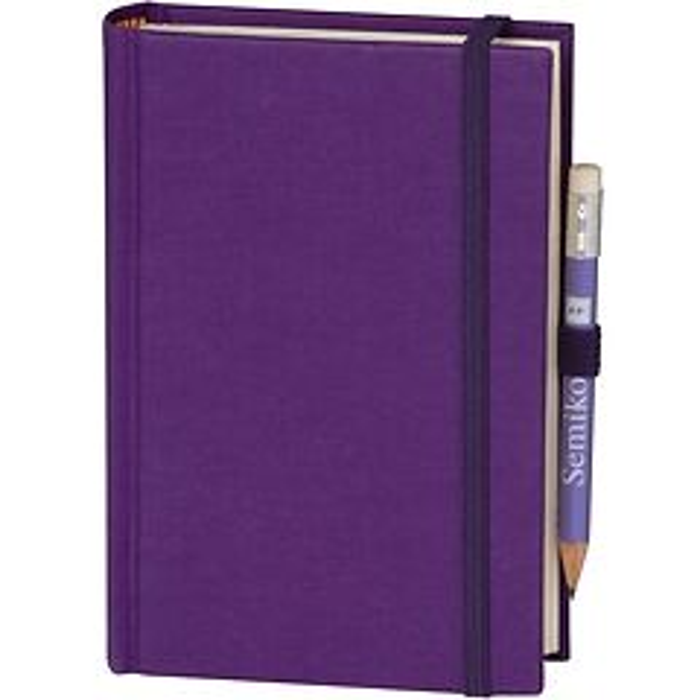 Travel Diary Petit Voyage, 304 pages of laid paper, plain, plum