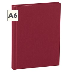 Notebook Classic (A6) book linen cover, 160 pages, plain, burgundy