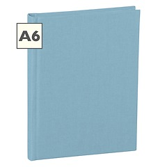 Notebook Classic (A6) book linen cover, 160 pages, plain, ciel