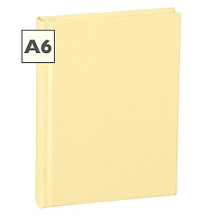 Notebook Classic (A6) book linen cover, 160 pages, plain, chamois