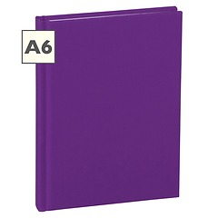 Notebook Classic (A6) book linen cover, 160 pages, plain, plum