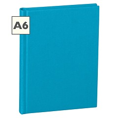 Notebook Classic (A6) book linen cover, 160 pages, plain, turquoise