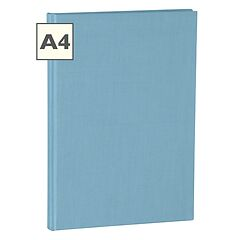 Notebook Classic (A4) book linen cover, 160 pages, plain, ciel