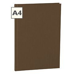 Notebook Classic (A4) book linen cover, 160 pages, plain, brown
