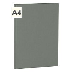 Notebook Classic (A4) book linen cover, 160 pages, plain, grey