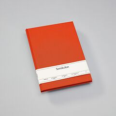 Notebook Classic (A4) book linen cover, 160 pages, plain, orange