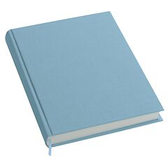 Notebook History Classic (A4) book linen cover, 160 pages, plain, ciel