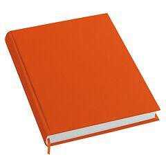 Notebook History Classic (A4) book linen cover, 160 pages, plain, orange