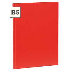 Notebook Classic (B5) book linen cover, 160 pages, plain, red
