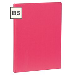 Notebook Classic (B5) book linen cover, 160 pages, plain, pink