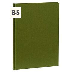 Notebook Classic (B5) book linen cover, 160 pages, plain, irish