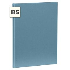 Notebook Classic (B5) book linen cover, 160 pages, plain, ciel