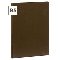 Notebook Classic (B5) book linen cover, 160 pages, plain, brown