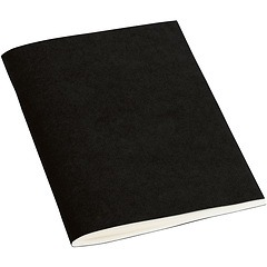 Filigrane Journal A6 with laid paper, 64 pages, plain, black