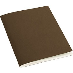 Filigrane Journal A6 with laid paper, 64 pages, plain, brown