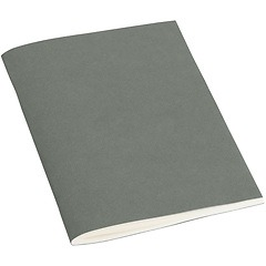 Filigrane Journal A6 with laid paper, 64 pages, plain, grey