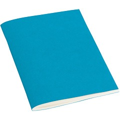 Filigrane Journal A6 with laid paper, 64 pages, plain, turquoise