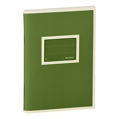 Exercise Book (A6) with a Tag to personalize, ruled, irish