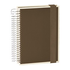 Mucho (A5) spiral-bound notebook, 330 pages, 3 different rulings, brown