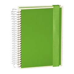 Mucho (A5) spiral-bound notebook, 330 pages, 3 different rulings, lime