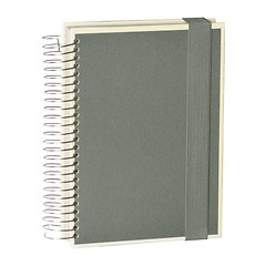 Mucho (A5) spiral-bound notebook, 330 pages, 3 different rulings, grey