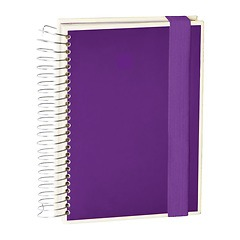 Mucho (A5) spiral-bound notebook, 330 pages, 3 different rulings, plum