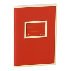 Exercise Book (A6)  with a Tag to personalize, 96 pages, plain , red