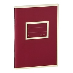 Exercise Book (A6)  with a Tag to personalize, 96 pages, plain , burgundy