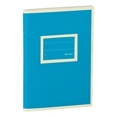 Exercise Book (A6)  with a Tag to personalize, 96 pages, plain , turquoise