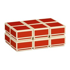 Little Gift Boxes (Set of 12), red