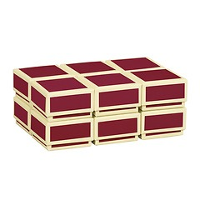Little Gift Boxes (Set of 12), burgundy