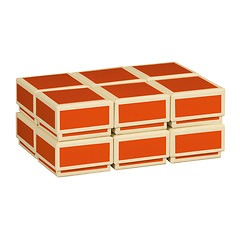 Little Gift Boxes (Set of 12), orange