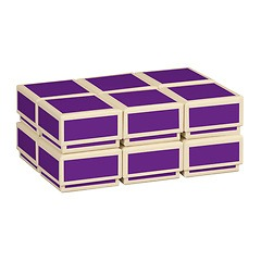 Little Gift Boxes (Set of 12), plum