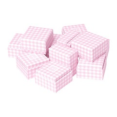 Little Gift Boxes (Set of 12) Vichy Pink